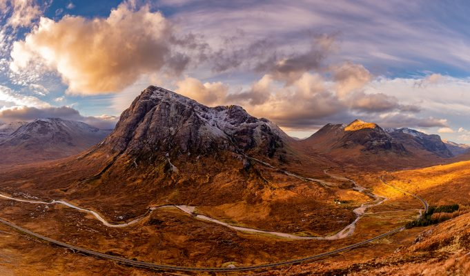 Northern Wild Landscape Photography Glencoe mountain panoramic