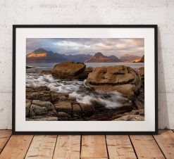 A happy Landscape Photograph taken at the village of Elgol on the Isle of Skye in the Scottish Highlands, UK