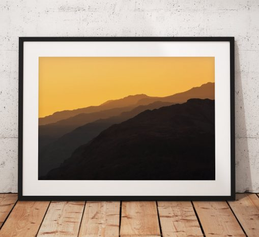 Autumn Mountain Layers taken from Loughrigg Fell, Sunrise, Lake District, Nature, Trees, England. Landscape Photo. Home Decor, Wall Art