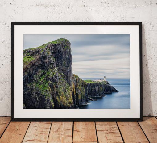 Isle of Skye Landscape photo, Neist Point, Lighthouse, Scotland,  Scottish Highlands,  Dramatic, Coast, Wall Art