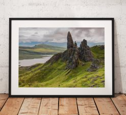 Isle of Skye Landscape photo, Scotland, Highlands, Scottish, Mountain, Old Man of Storr,  Black and White, Wall Art