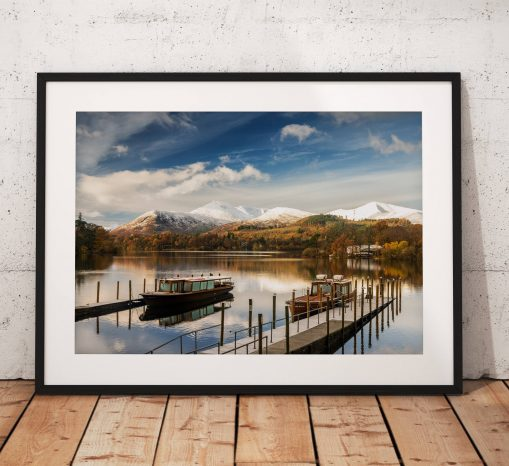 Lake District Landscape Photography, Derwentwater, Keswick, Snow, Winter, Cumbria, England. Landscape Photo. Mounted print. Wall Art.