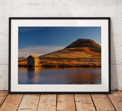 Lake District Landscape Photography, Devoke water, Sunrise, Cumbria, England. Landscape Photo. Mounted print. Wall Art.