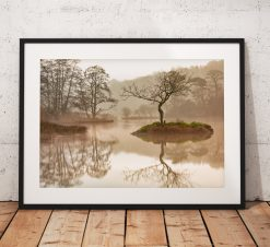 Lake District Landscape Photography taken on a misty morning at Rydal, England. Wall Art