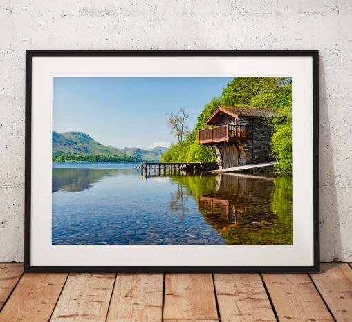 Lake District Landscape Photography, Ullswater Boathouse, Pooley bridge, Cumbria, England. Landscape Photo. Mounted print. Wall Art.