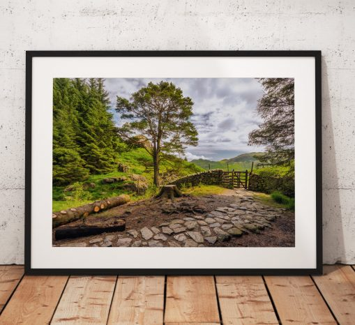 lake District Photography, Little Langdales, Cumbria, mountains, England. Landscape Photo. Mounted print. Wall Art.