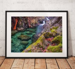 lake District Photography, Waterfall, Cumbria, colour, mountains, England. Landscape Photo. Mounted print. Wall Art.