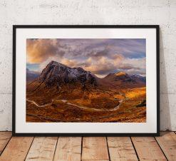 Northern Wild Landscape Photography - Glencoe Buachaille Etve Mor pano scottish highlands, Scotland UK