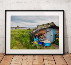 Northumberland Landscape photography, Land art. Holy island, Coast, Seascape, Stones, England. Landscape Photo. Mounted print. Wall Art.