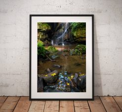 Northumberland Landscape Photography, Roughting Linn Waterfall , Nature, Autumn, England.  Photo. Mounted print. Wall Art.