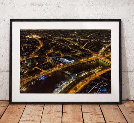 Paris Cityscape Photography, Eiffel tower, France, Night, City. Landscape Photo. Long exposure. Wall Art.