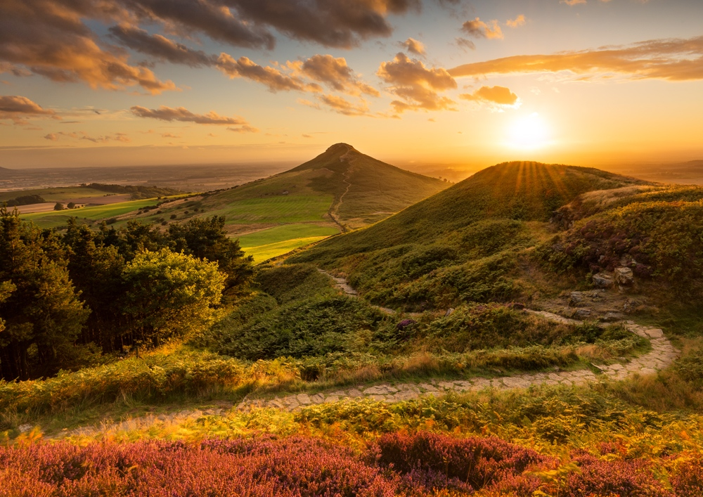 Northern Wild Landscape Photography - Roseberry Topping sunrise North York Moors photo, UK