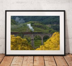 Railway photography, Glenfinnan Viaduct, Highlands, Scottish, Harry Potter, Steam Train, Photo, Scotland, Jacobite train, Print, Wall Art