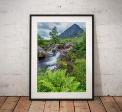Scottish Landscape photo of Glencoe Highlands, Scotland , Mountains waterfall, Fern,sunrise Buachaille Etve Mor Wall Art