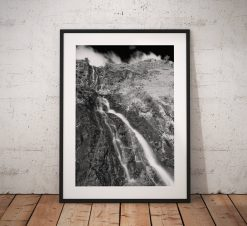 Waterfall Photography, Whorneyside Force, Waterfall, Great Langdale, Lake District, Nature, Mono, England. Landscape Photo. Home Decor